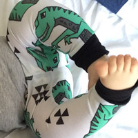 Baby Leggings, Toddler Leggings - Dinos