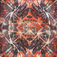 Trippy tie dye tapestry in red purple black and grey