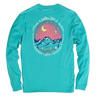 Starry Night Long Sleeve Tee in Ceramic by The Southern Shirt Co.