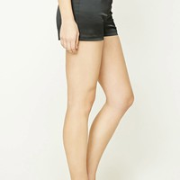 Satin High-Waist Shorts