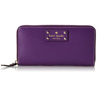Kate Spade Womens Neda Wellesley Leather Textured Zip Around Wallet