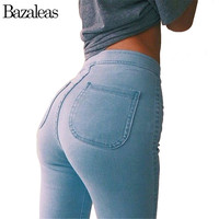 Women High Stretch Skinny Jeans Woman Pantalones Vaqueros  Denim High Waist Pants