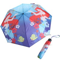 Licensed cool Disney The Ariel Little Mermaid Compact Rain Fold-Up Umbrella W/ wristlet NEW