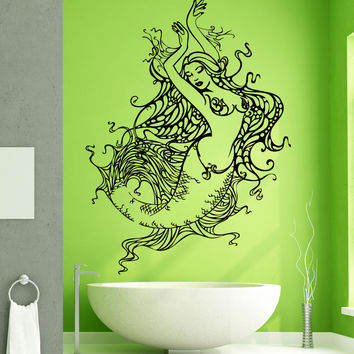 Vinyl Wall Decal Sticker Mermaid Design #OS_AA1690