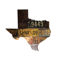Texas License Plate Shiner Sign