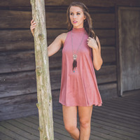Desert Sunset Dress in Mauve