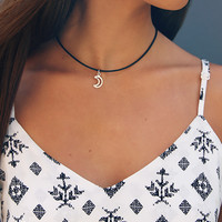 Moon Choker - Black/Silver