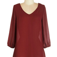 ModCloth Mid-length 3 Break for Bookmaking Top