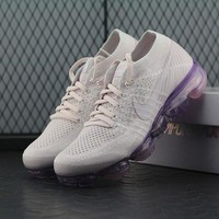 Best Online Sale Nike Air VaporMax Vapor Max 2018 Flyknit Women Pink Purple Sport Running Shoes 849557-501