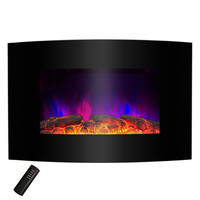 1,500 Watt Wall Mount Electric Fireplace Space Heater with Remote 5,200 BTUs