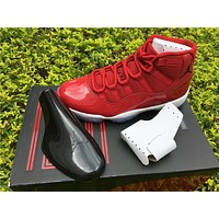 Air Jordan Retro 11 UNC Gym Red Navy blue Basketball Shoes Win Like 82 96 Sports Sneakers US 5.5-13
