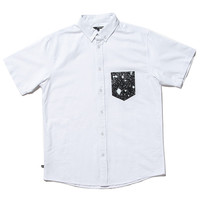 Quiet Life: Cosmos Oxford Pocket Short Sleeve Shirt - White