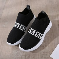 Fendi FF fashion hot seller for men and women with thick-soled knit sneakers
