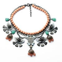 Strand and Charms Statement Necklace
