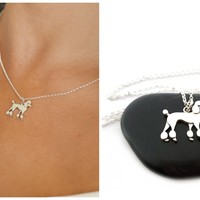 Poodle Necklace - Sterling Silver Jewelry