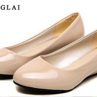 2017 Spring Summer Wedges Shoes Women Schuhe Nude Shoes Wedges Shoes For Women Elegant High Heels Office Bridal Shoes Wedges