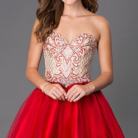 Strapless Sweetheart Alyce Dress with Bead Embellished Bodice