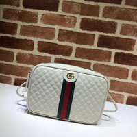 gucci Quilted leather small shoulder bag