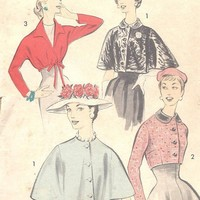 1950s Vintage Sewing Pattern Fitted Empire by MissBettysAttic