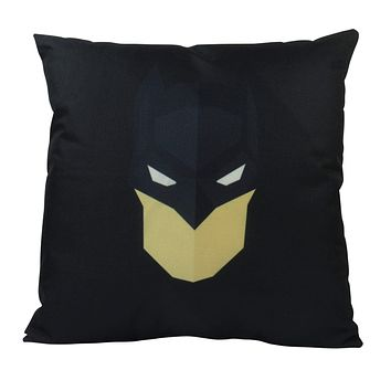 Black | Mask | Superhero | Vector Art | Fun Gifts | Pillow Cover | Home Decor | Throw Pillows | Happy Birthday | Kids Room Decor | Kids Room
