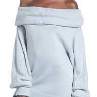 Topshop Balloon Sleeve Off the Shoulder Sweater | Nordstrom