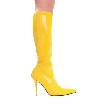 "Ellie Shoes Women's IS-E-408-Emma 4"" Heel Knee High Boot Yellow Size 9"