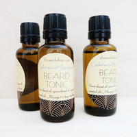 Beard Tonic, beard oil, gifts for him, men's skincare, valentine gift, all natural, vegan, argan oil, cedarwood, bergamot