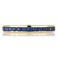 Kee's Gold Plated Eternity Ring- Synthetic Sapphire