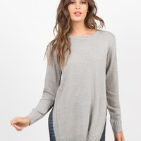 High Slit Knit Sweater