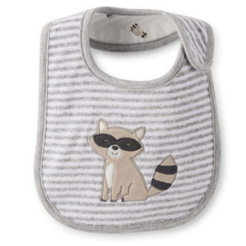 Reversible Raccoon Teething Bib