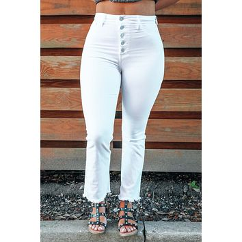 Always On Time Jeans: White