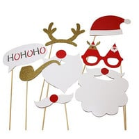 Big Size 8pcs Christmas Booth Prop Christmas Photography Background Christmas Gift Festive Decoration Party Supplies