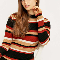 Urban Outfitters All Over Striped Turtleneck Jumper - Urban Outfitters