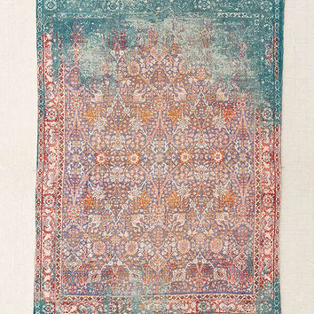 Isolde Distressed Print Chenille Rug   Urban Outfitters