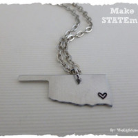 Oklahoma State Necklace - Make a STATEment