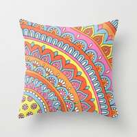 Sunny Day Throw Pillow by PeriwinklePeacoat | Society6