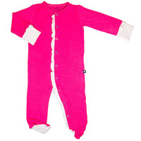Ruby Coral Contrast Footie - Infant