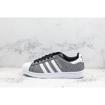 Adidas Superstar Black White Sneakers