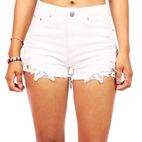 Flora Trim High Waist Shorts