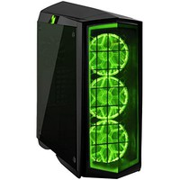 SilverStone Technology Gaming ATX Tower Computer Case with Tempered Glass and RGB Lighting in Black PM01B-RGB