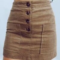 Thinking Of You Skirt: Camel