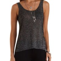 Sweater Knit Pocket Tank Top by Charlotte Russe