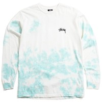 Small Stock Tie-Dye Longsleeve T-Shirt Natural / Blue