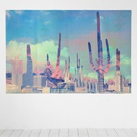 Cactus City Wall Mural - Urban Outfitters