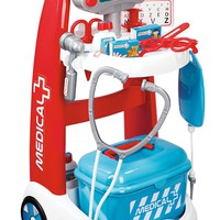 Kids,Toddlers Pretend Play Doctors Complete ER Trolley Interactive Realistic Playset