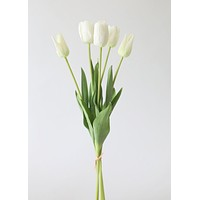 "Real Touch Flower Bundle of White Tulips - 22"" Tall"