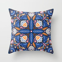 Bright Boho Style Throw Pillow by noondaydesign