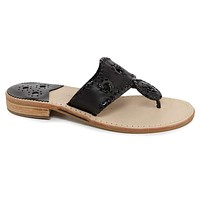Palm Beach Jack Sandal in Black by Jack Rogers