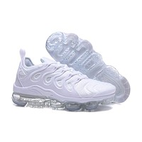 2018 Nike Air VaporMax Plus TN Triple White Sport Running Shoes
