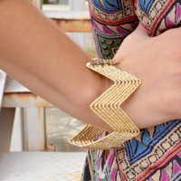 Candace Is Queen Bracelet: Gold